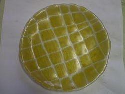Sulatatud klaasist taldrik