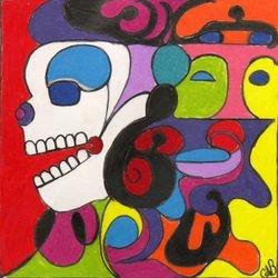 Mayan Spirit Symbol,4x4,Pastel