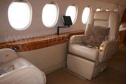 Interior of Falcon 900EX