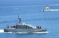 Libyan Navy entering Valletta port.