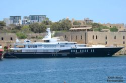 Yacht with ec135 helicopter M-ABDQ onboard. 15 June 2013 Valletta-Kefallonia.