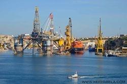 Oil Rig in Malta for maintenance.