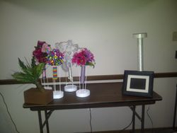 My set up table at home