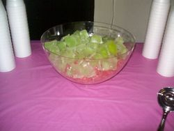 Pink and Green ice cubes