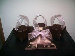 Ring bearer pillow and flower girl baskets