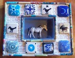 Zebra Shadow Box