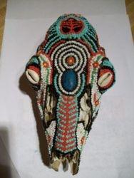 Beaded deer skull 2012