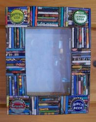 Frame with bottle caps