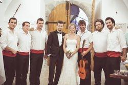 s mladencima u Bakru na vjenčanju