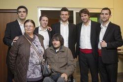 S Davorom i njegovom majkom, svi sretni i zadovoljni :)