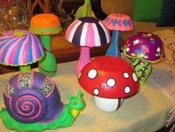 Glass Mushrooms.