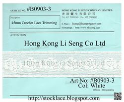 Stocklot Lace Trims Manufacturer Wholesale and Supplie