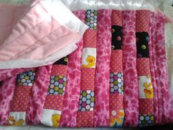 Gorgeous Pink Flannel baby mat