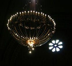 Lámpara central de la iglesia de San Pedro
