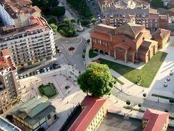 Plaza Merediz desde el aire