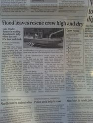 """Flood leaves rescue crew high and dry..."""