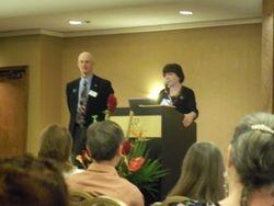 ONA President Steve Rooney and ANA President Karen Daley