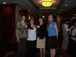 Dani, Leah, ANA President Karen Daley and Kelcie Grace