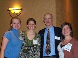 Kelcie Grace, Dani, ONA President Steve Rooney and Leah
