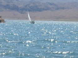 Sparkling Waters in brisk wind