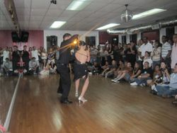 Mike and Nathaly performing at Latin Reflections social August 2009