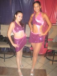 Nathaly and Julianna before showtime at Dance Atlantic November 2009