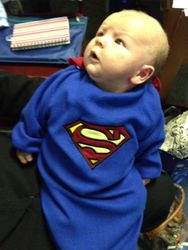 Superman at the Dalmuir class on Halloween 2011