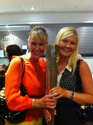 Me & Zoe holding an Olympic tourch at the BATD Conference 2012!!!