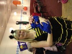 Miss Laura & Baby Josh at the Dalmuir Class, Halloween 2011