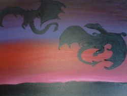 Dragon brothers silhouette