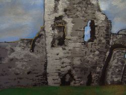Close up of Pevensey castle
