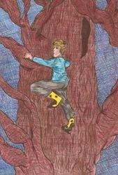 Ben climbing the Dragon Tree