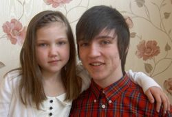 laura and her big brother lewis