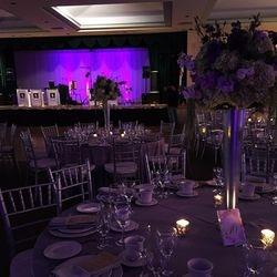 Purple uplighting on the main stage