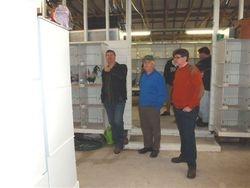 Michael Holmes, Eric Rosolen & Peter Gooch watching the judging.
