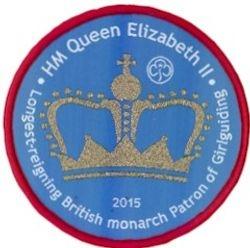 2015 Queen Longest Reigning Monarch cloth badge