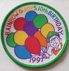 1997 Rainbow 10th Birthday Badge