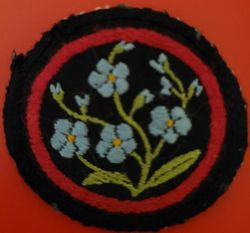 Forget-Me-Not Patrol Badge (woven)