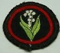 Lily of the Valley Patrol Badge (woven)