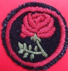 Red Rose Patrol Badge (felt)