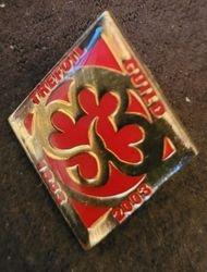 2003 Trefoil Guild Jubilee Metal Badge