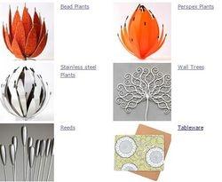 Beads & Perspex & S/Steel Aloes