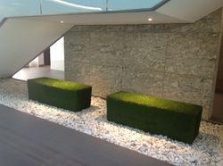Grass Bench in Atrium