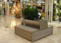 Custom made Cubench with Planter