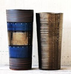 POP Otis Blue Bronze Glazed & Ribbed