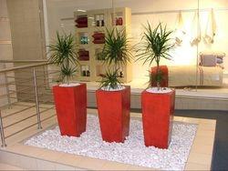 Pots in Pebbles Atrium