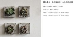 Small Wall Boxes Lidded