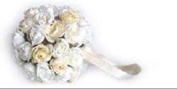Hanging Rose Ball White