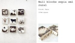 POP Wall Blocks Sepia Rural