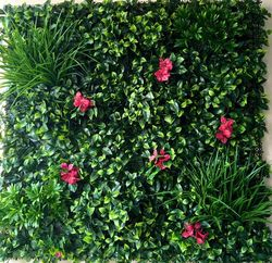 Mixed Bouganville & Grass with leaves